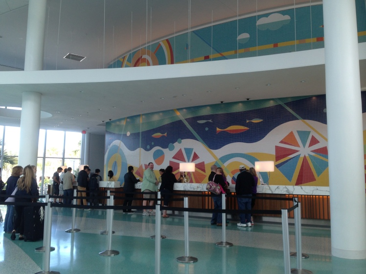 Cabana Bay Beach Resort; front desk