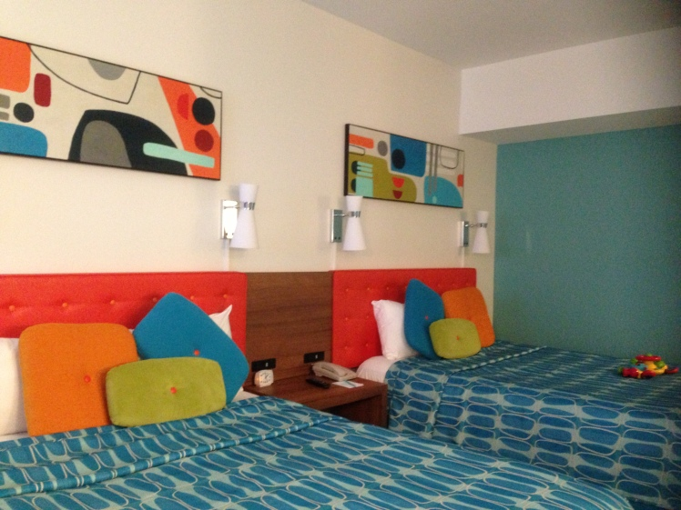 Cabana Bay Beach Resort; the room