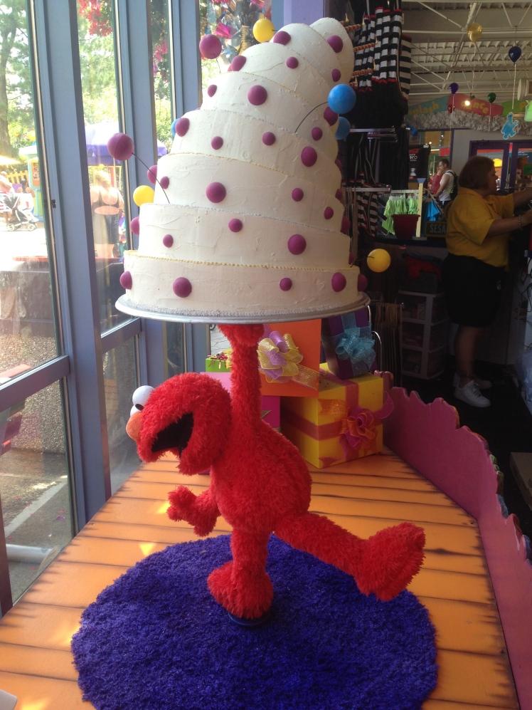 Elmo & huge cake