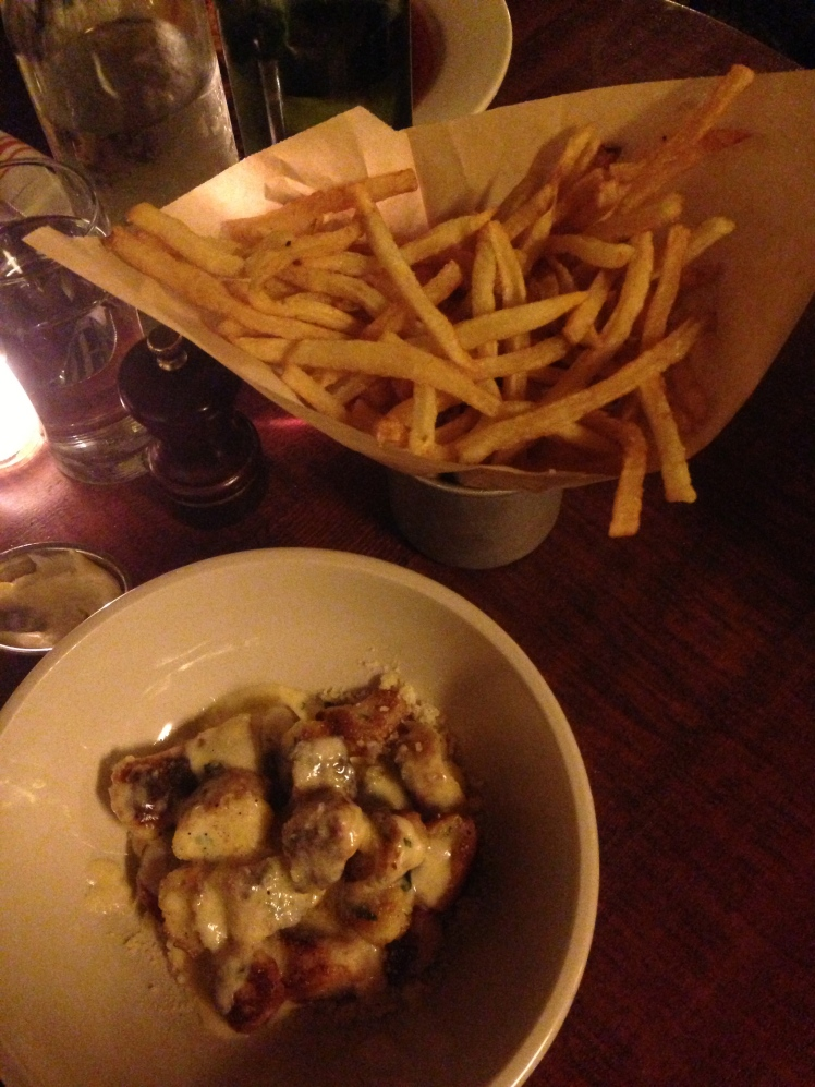 Ricotta Gnocchi and fries