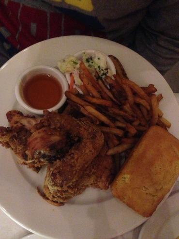 Buttermilk fried chicken dinner