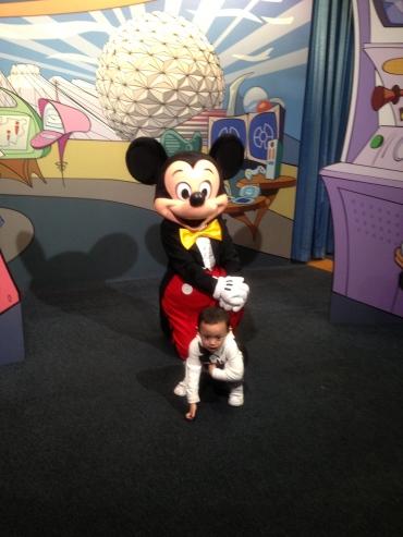 mandatory photo with Mickey